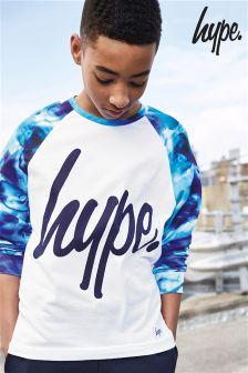 Hype. Printed Raglan Long Sleeved T-Shirt
