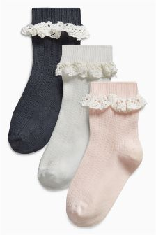 Ruffle Socks Three Pack (Younger)