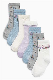Floral Socks Seven Pack (Younger)
