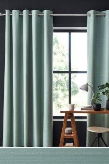 Textured Slub Studio* Eyelet Lined Curtains