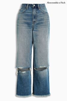 Abercrombie & Fitch Mid Wash Reworked Jean