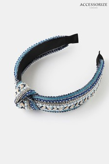 Accessorize Embroidered Knot Aliceband