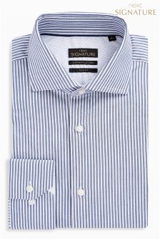 Stripe Signature Egyptian Cotton Slim Fit Shirt
