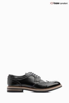 Base London Black Kent Hi Shine Lace Up Brogue Shoe