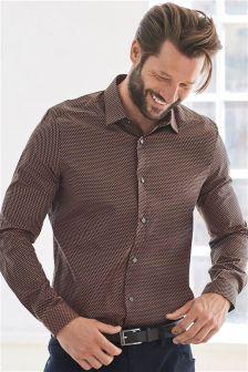 Koszula z długim rękawem w geometryczne wzory