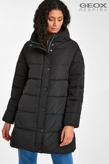 Geox Women's Airell Black Long Coat
