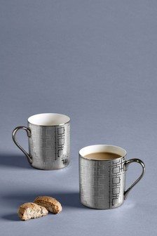 Set of 2 Geo Luxe Mugs