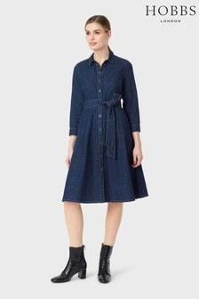 Hobbs Blue Elle Denim Dress