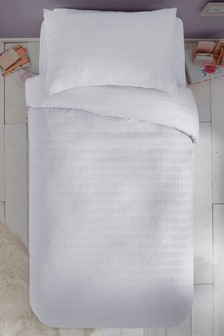 Supersoft Seersucker Duvet Cover and Pillowcase Set