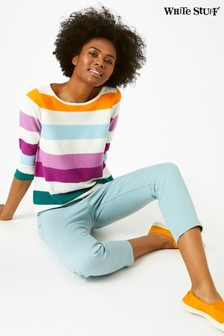 White Stuff Orange Marigold Stripe Jumper