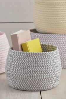 Плетеная корзина для хранения
