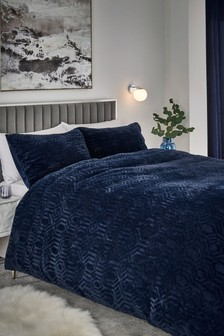 Freya Faux Fur Duvet Cover and Pillowcase Set