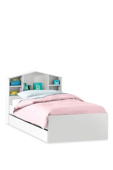 House Headboard Single Storage Bed