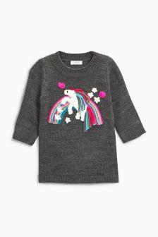 Unicorn Jumper Dress (3mths-6yrs)