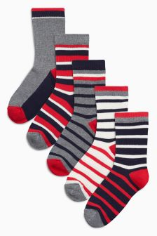 Stripe Five Pack Socks (Older)