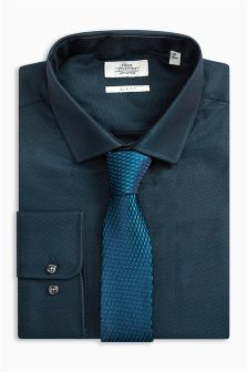 Tonic Slim Fit Shirt And Tie Set