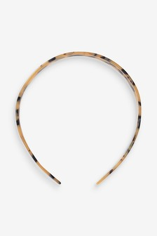 Tortoiseshell Resin Headband