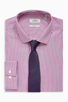 Stripe Slim Fit Shirt And Tie Set