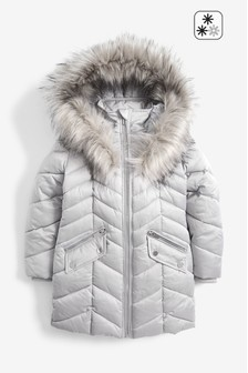 Shower Resistant Two Tone High Shine Padded Jacket (3-16yrs)