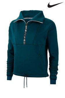 Nike Pro Mock Neck Pull Over Training Hoody