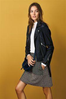 Jacquard Patch Skirt