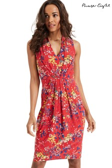 Phase Eight Red Camilla Print Dress