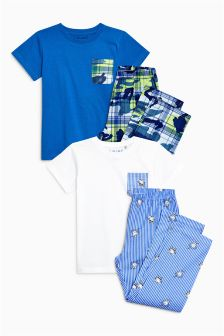 Woven Pyjamas Two Pack (3-16yrs)