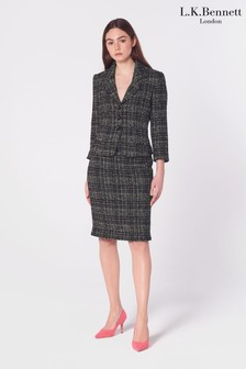 L.K.Bennett Black Italy Tweed Skirt