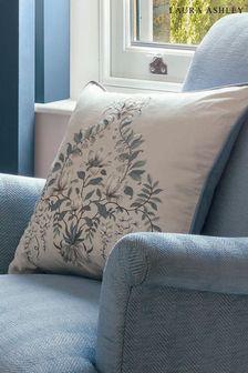 Blue Parterre Embroidered Seaspray Cushion