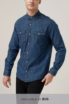 275dc85c65 Buy Men s shirts Denim Denim Shirts from the Next UK online shop