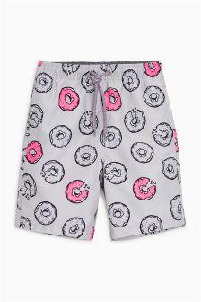 Doughnut Print Swim Shorts (3-16yrs)