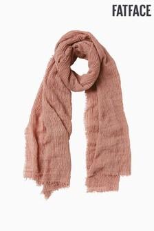 FatFace Pink Textured Plain Scarf