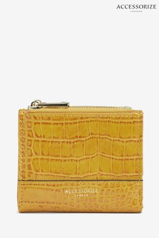 Accessorize Tan Croc Effect Bella Wallet