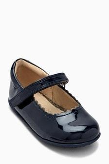 حذاء موديل Mary Jane بحافة صدف (الصغار)