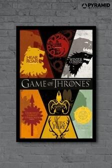 Pyramid International Game Of Thrones Sigils Framed Print