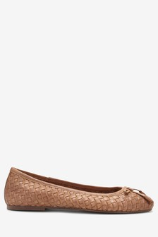 a27383f351a Woven Leather Ballerinas