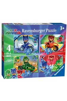 Ravensburger PJ Masks 4 in a Box 12, 16, 20, 24 Piece Jigsaw Puzzles