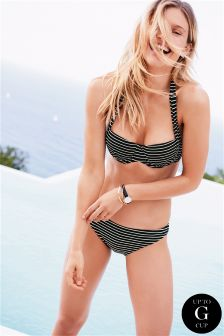Gestreept 2-in-1-bikinibovenstuk