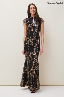 Phase Eight Black Sia Sequin Emboidered Dress