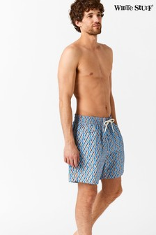 White Stuff Blue Octigeo Print Swim Short