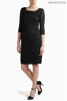 Gina Bacconi Black Mesh Sleeve Under Top