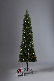 100 LED Slim Pine 6ft Christmas Tree