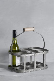 Galvanised Wine Caddy