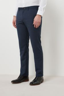 Slim Fit Check Jean Style Trousers