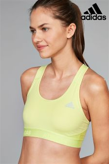 adidas Yellow Alphaskin Bra