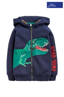 Joules Blue Seth Novelty Hooded Sweat