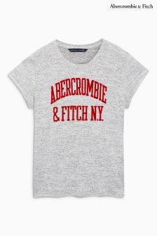 Abercrombie & Fitch Grey/Red Logo Tee