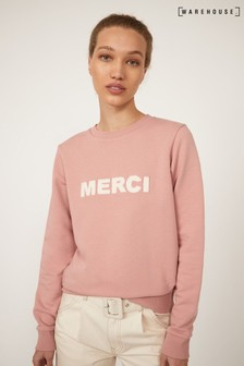 Warehouse Pink Merci Sweatshirt