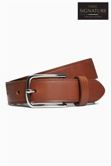 Signature Edge Detail Leather Belt