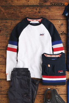 Superdry White Crew Jumper